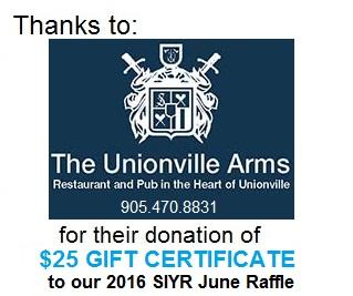 Unionville Arms thanks