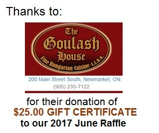 Goulash House thanks