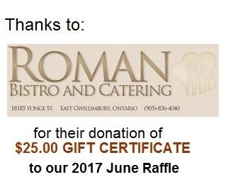 Roman Bistro thanks